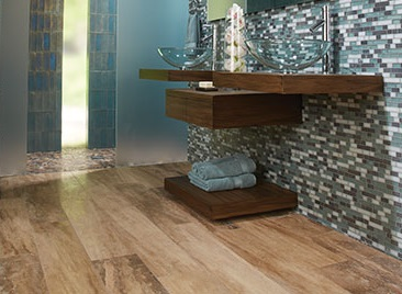 Wood-Look Tile Flooring in Rancho Cucamonga, CA.